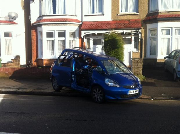 Woman taken to hospital after crash