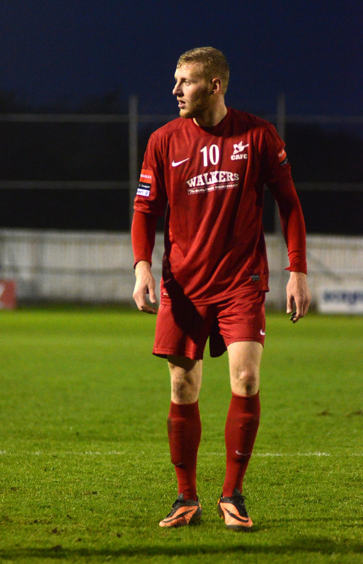 Back for the cup: Lewis Taylor, who missed the defeat at Hampton & Richmond, is available for the Surrey Senior Cup tie at Merstham