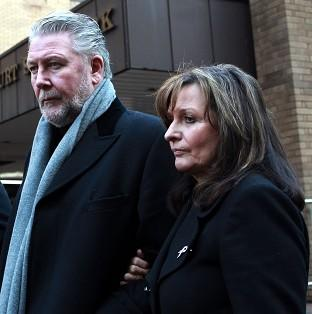 This Is Local London: Tommy Walsh and his wife Marie leaving Southwark Crown Court after Leanne Bloomfield was found guilty of attacking their daughter Natalie.
