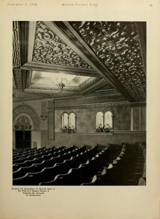 Interior design of Walthamstow cinema in 1930