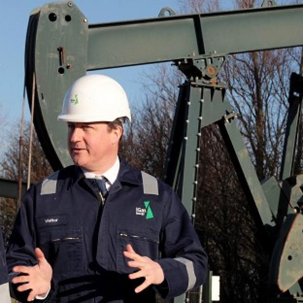 This Is Local London: Prime Minister David Cameron visited the IGas shale drilling plant oil depot near Gainsborough, Lincolnshire, on Monday