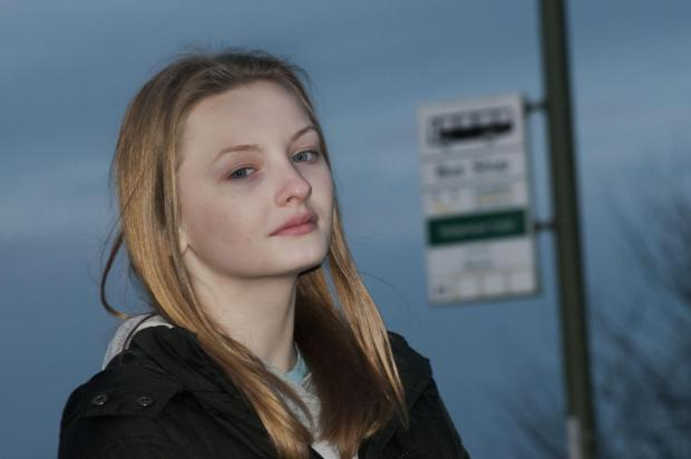 Grace Bates, 13, from Rutland Close, Epsom, could not board the bus