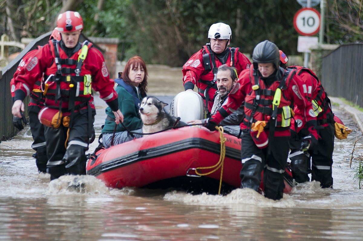 Residents of Thorncroft Drive, Leatherhead, had to be rescued after the River Mole burst its banks on Christmas Eve