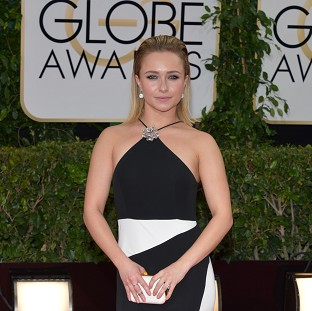 Hayden Panettiere in her Tom Ford gown