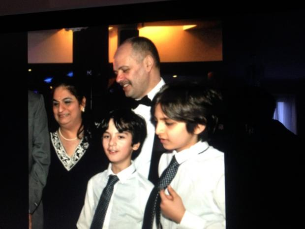 This Is Local London: Anita and Andrew Iacovou with their sons Aryan and Rhitik