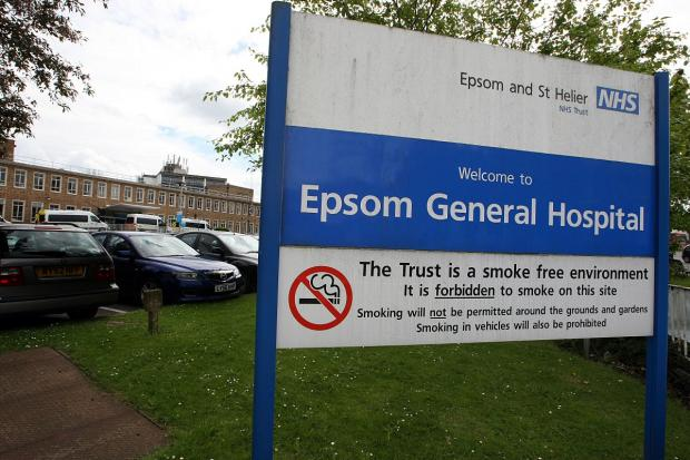 This Is Local London: Visitors to Epsom Hospital witnessed an operation taking place through a window
