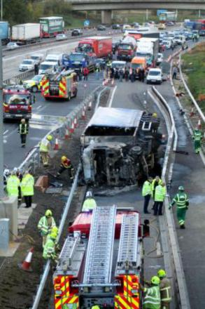 The crash on the M25 in late October claimed a man's life