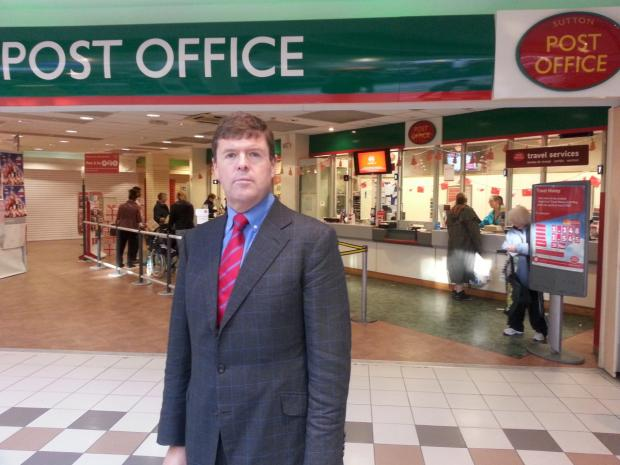 Paul Burstow MP outside the High Street post office