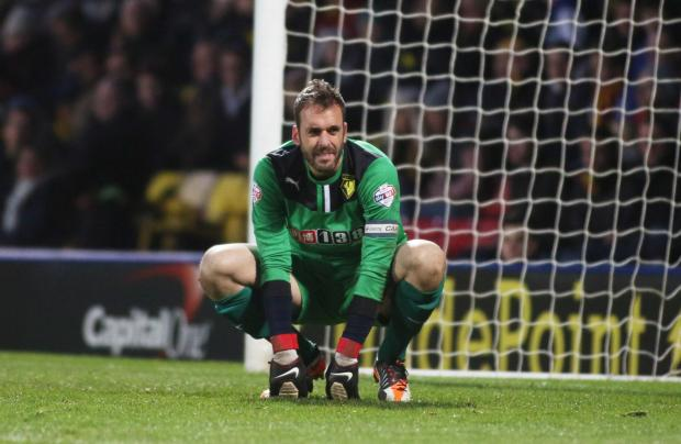 Manuel Almunia saved one of two penalties against Bournemouth. Picture: Action Images