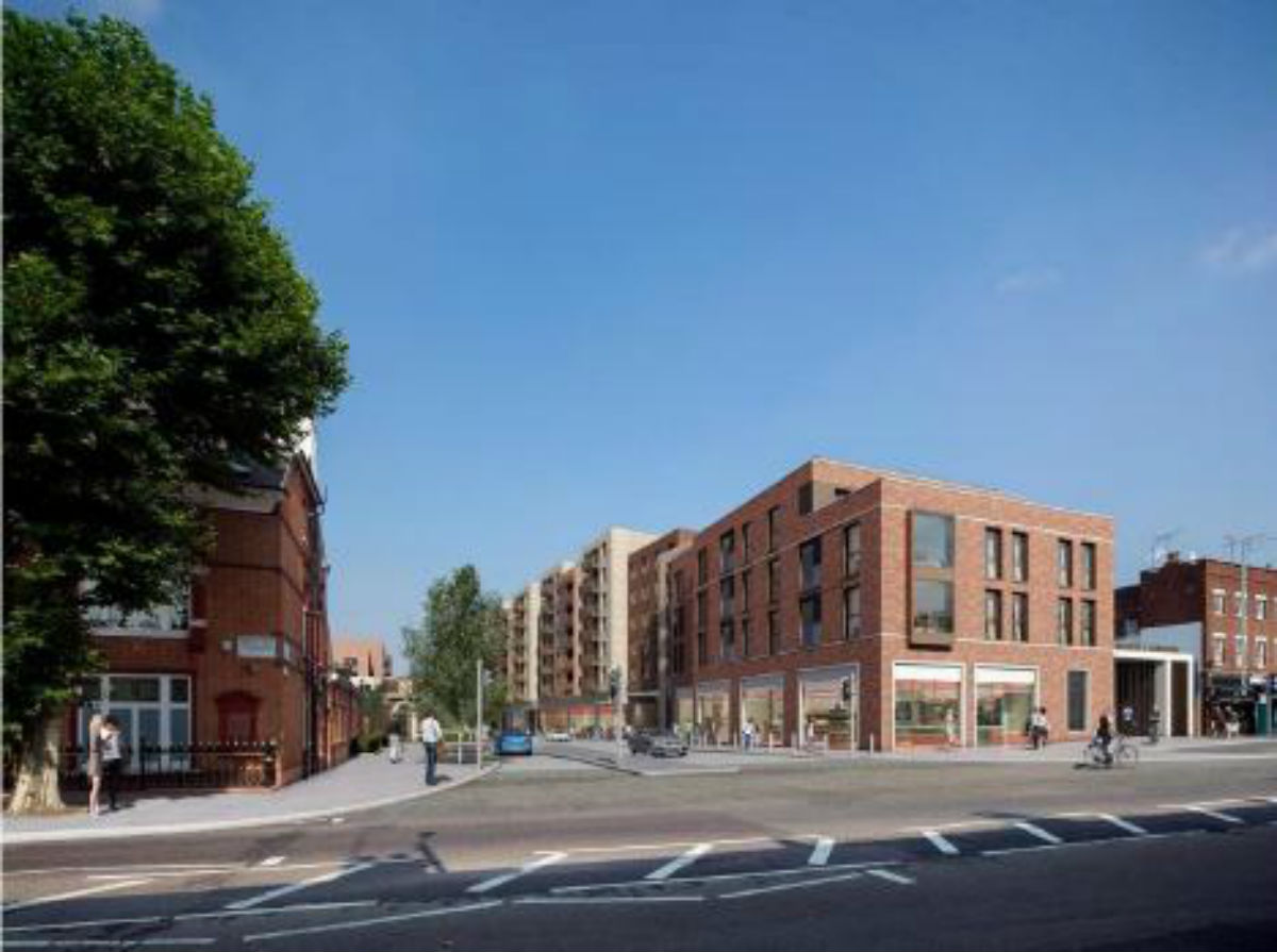 A computer image of what the Hornsey Depot will look like after it has been developed