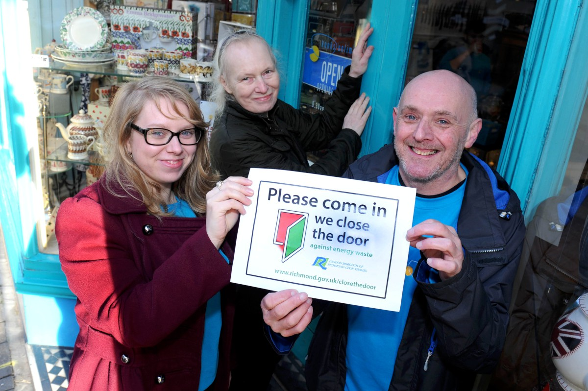 Doors closed, still open: Shops in Eton Street are signed up