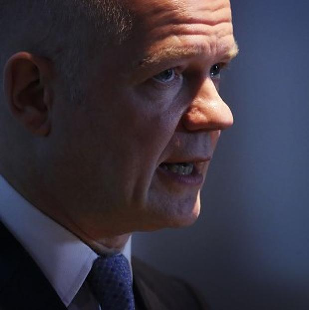 This Is Local London: William Hague said both sides in the Syria conflict 'should seize chance to end the war'