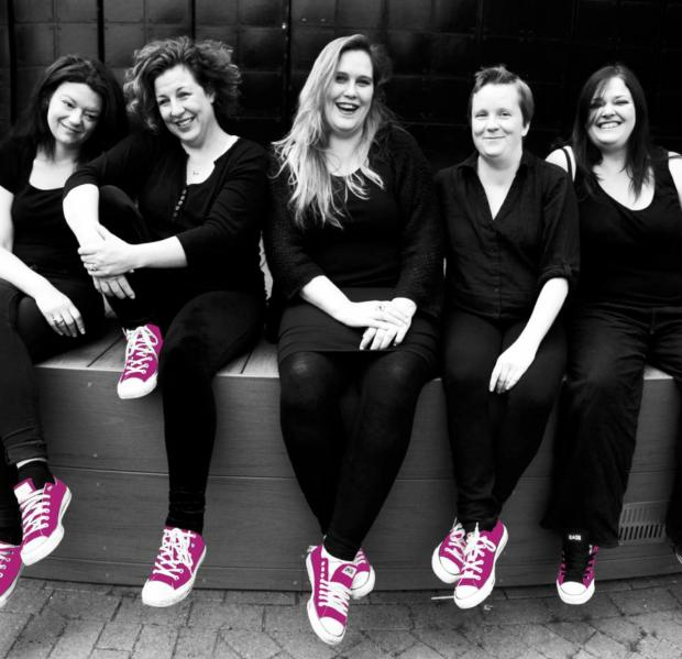 Funny: Annalea Doyle, Courtney Cornfield, Lucy Frederick, Emma Stroud and Kate Heward