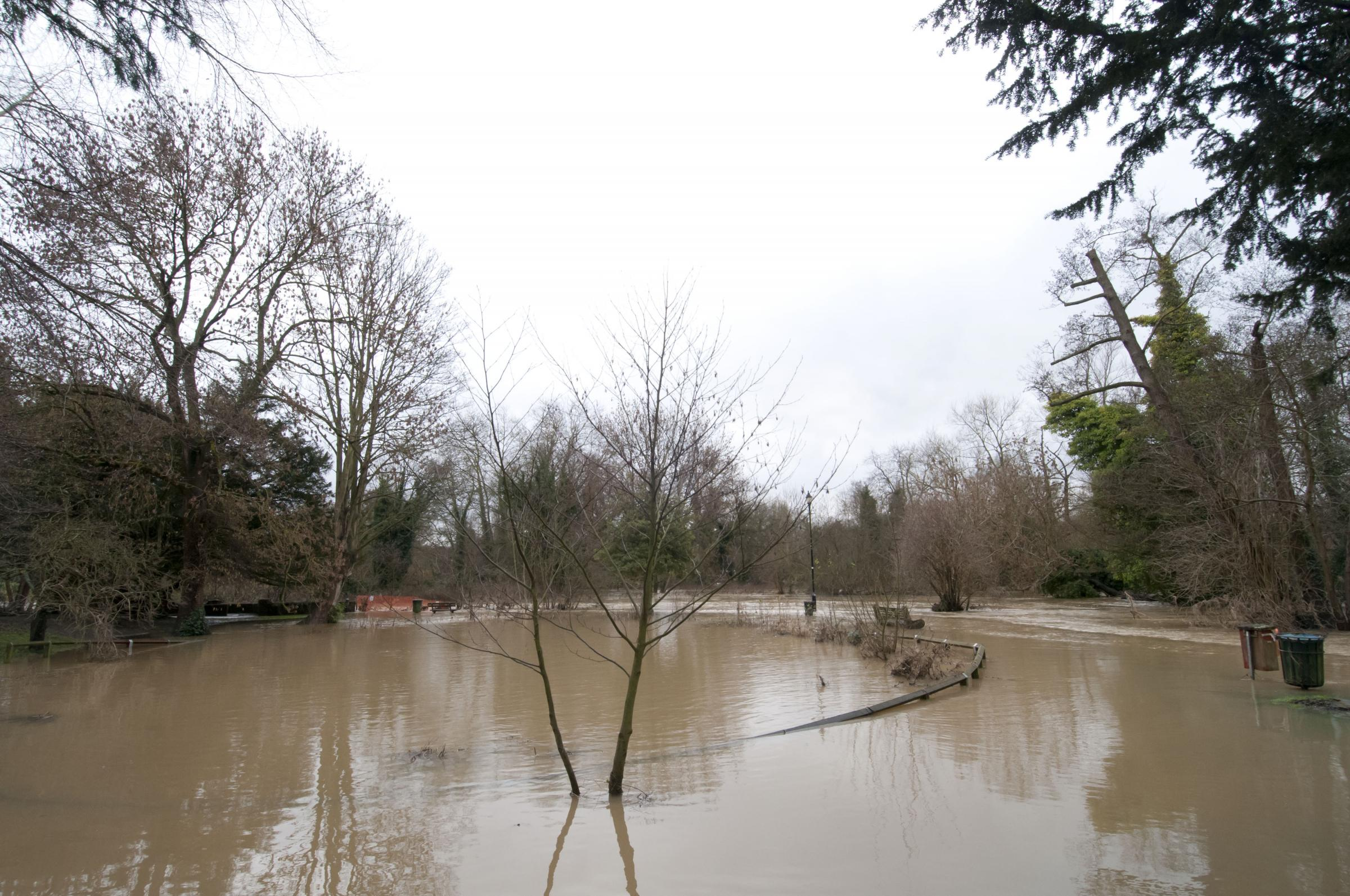 The River Mole has burst its banks more than once this month