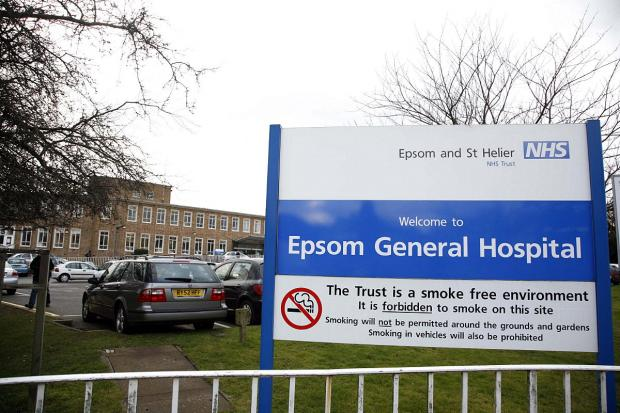 An operation was conducted in full view of visitors and patients at Epsom Hospital in January