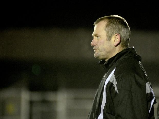 Angry man: Alan Dowson after his Ks side threw away a 2-0 lead at Thamesmead Town