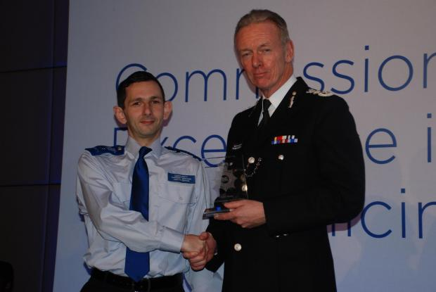 Mr Burda collected his award from Met Police Commissioner Sir Bernard Hogan-Howe