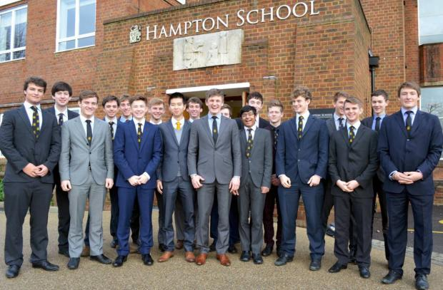 Going places: The Hampton School students