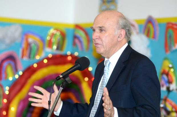 Who betters? Business Secretary Vince Cable supports the event