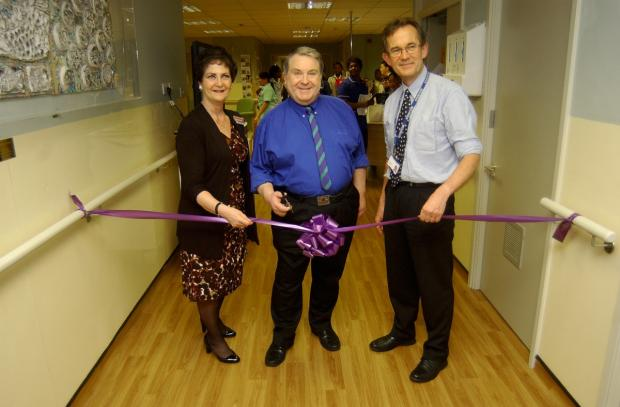 Open and safe: Russell Grant at the West Mid ward