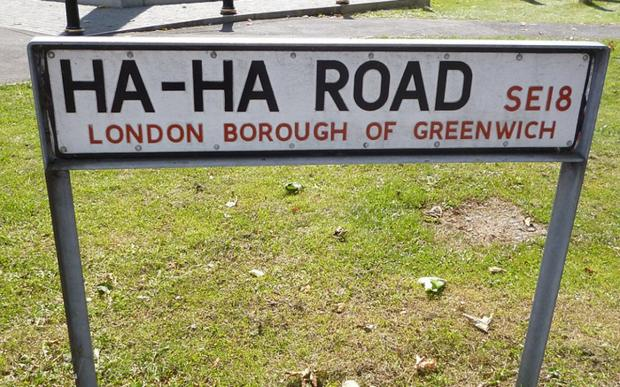 Ha-Ha Road is in Woolwich. Photo by Suede Bicycle, via Flickr