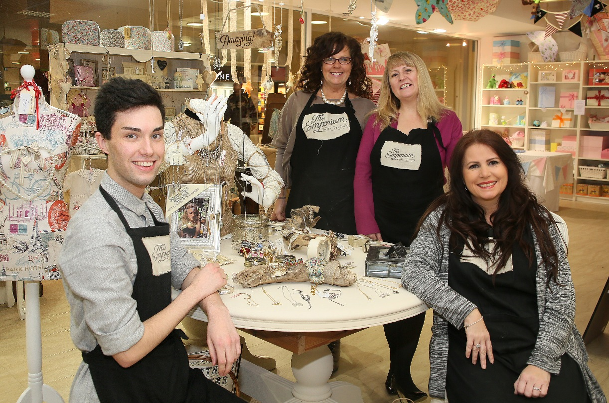 Tom Keeler, Jane Elsden, Julia Smith and Veronica Kelly at The Emporium Gift Boutique in Broadway Shopping Centre.