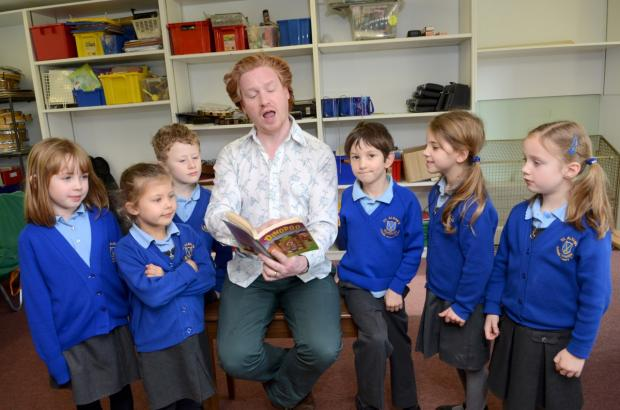 Treat: Children with author Ciaran Murtagh