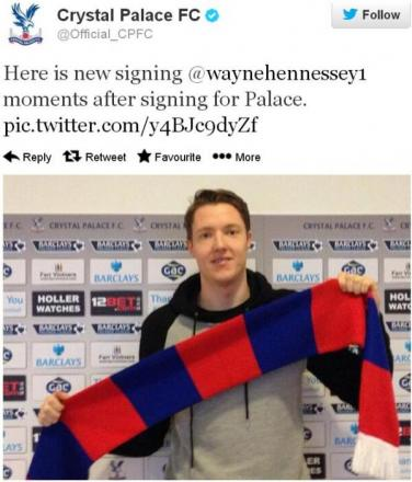 Crystal Palace have confirmed goalkeeper Wayne Hennessey has signed on a three-and-a-half year deal