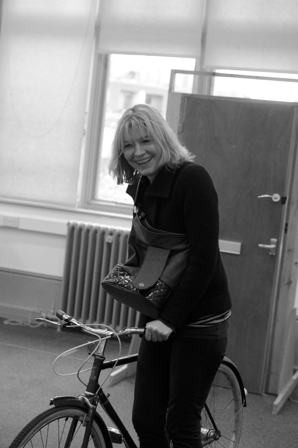 Jemma Redgrave during rehearsals for Donkeys' Years, where she stars as Lady Driver