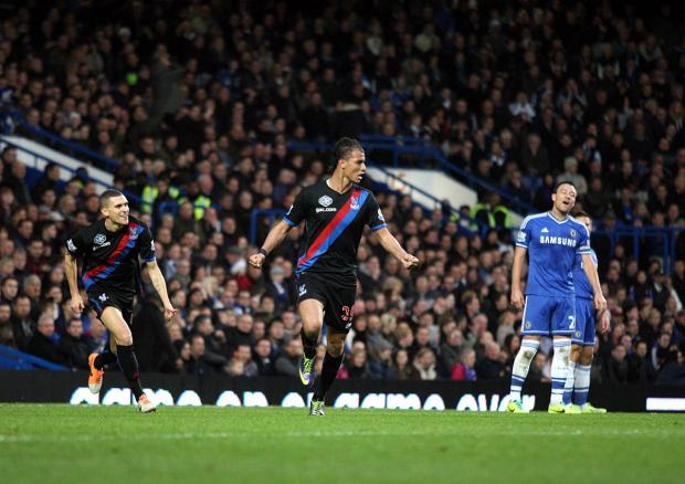 All the way: Crystal Palace pushed Chelsea close when the sides met at Stamford Bridge in December            SP80738