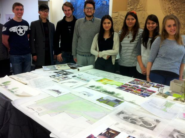 Landscape architecture students from Kingston University want to revamp Memorial Gardens