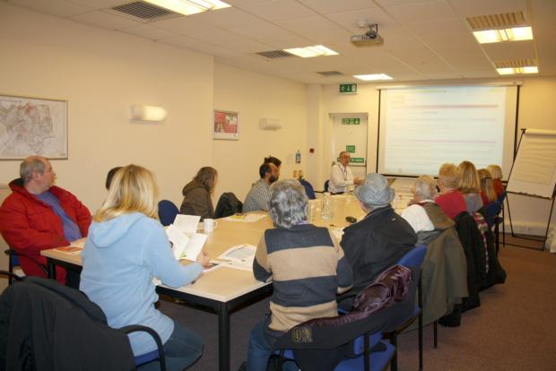 Residents taking part in a money saving session