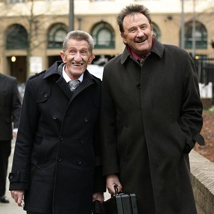 The Chuckle Brothers, Barry and Paul Elliott, are appearing as witnesses in the trial of Dave Lee Travis
