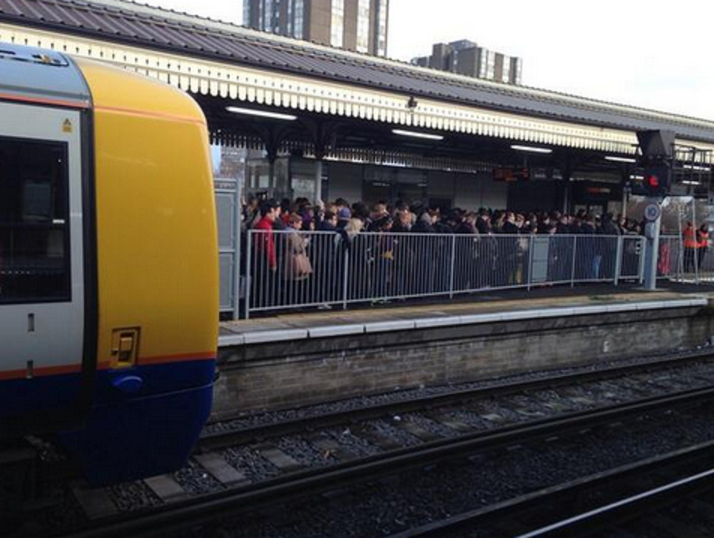 Clapham Junction station this morning. Photo: Ben Whitelaw