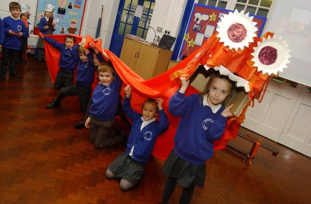 The infants celebrate Chinese new year in style.