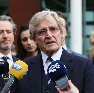 Coronation Street actor William Roache speaks to the media outside Preston Crown Court