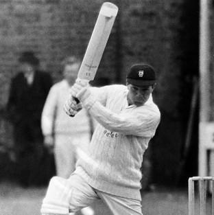 Glamorgan batsman Bernard Hedges had an