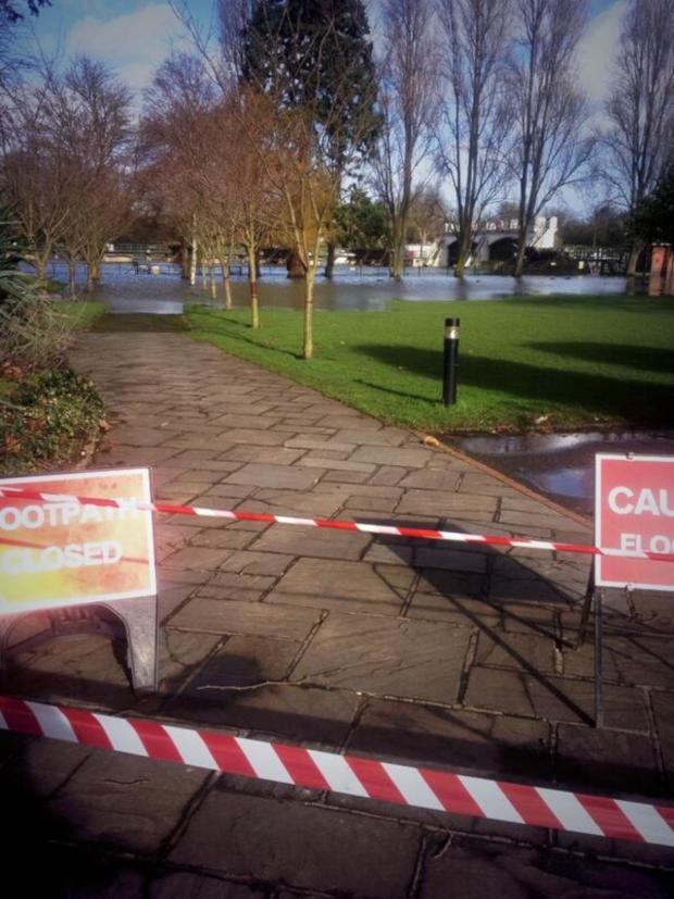 This Is Local London: Flooding: A path at the Lensbury in Teddington
