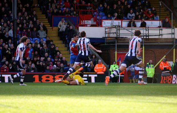 This Is Local London: Tom Ince opens the scoring against West Brom. PICTURES BY EDMUND BOYDEN.