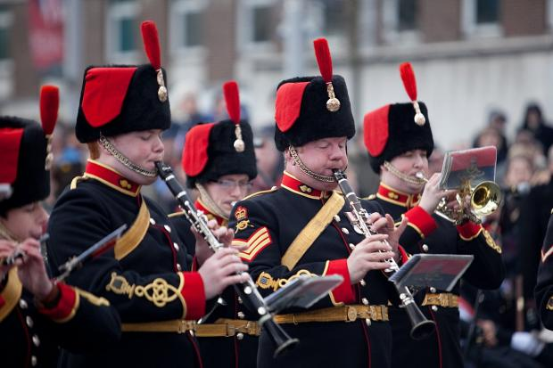 This Is Local London: PICTURED: Woolwich Royal Artillery Band leave with farewell performance