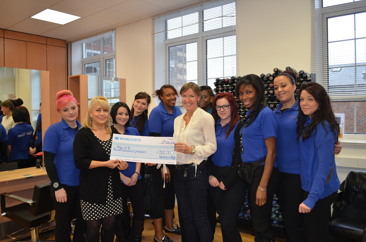 They presented a cheque to Victoria Silver last Thursday