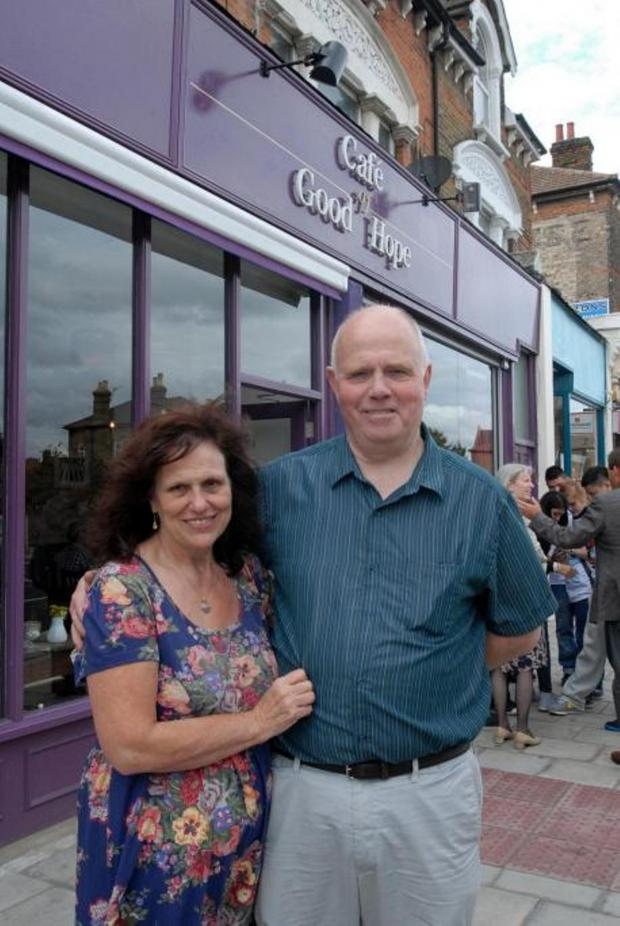 This Is Local London: Barry and Margaret Mizen outside the Cafe of Good Hope in Hither Green.