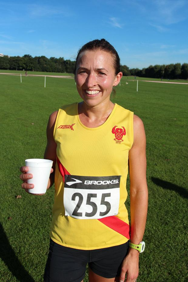 This Is Local London: Top showing: Hercules Wimbledon's Claire Grima took second in the final meeting of the Surrey Ladies Cross-Country League on Saturday       SP79817