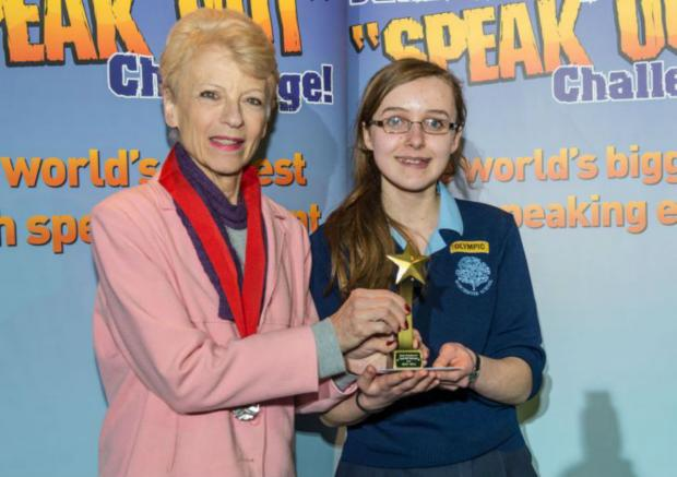 This Is Local London: Lucy Fleming, 14, won the regional finals for her speak on 'overcoming fear'