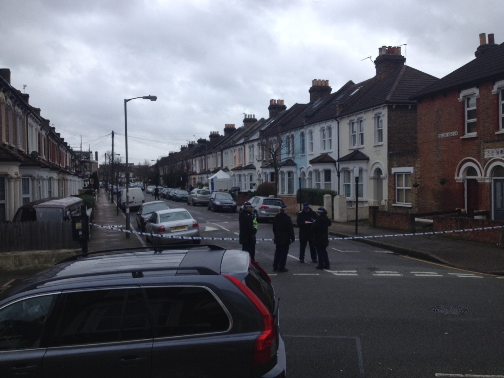 Police cordoned off Selkirk Road