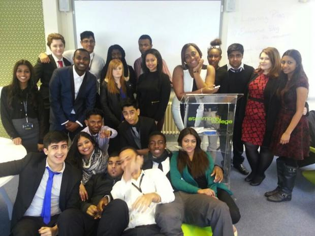 Stanmore College students met possible employers at a business workshop
