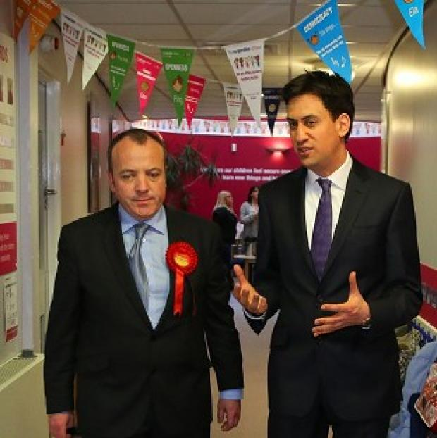 This Is Local London: Labour Leader Ed Miliband helped new Wythenshawe and Sale East MP Michael Kane campaign