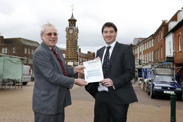 Epsom town councillor Neil Dallen and Business Development Manager Adam Worley hope as many people as possible can complete the survey