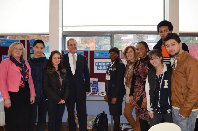 MP visits college as part of money scheme