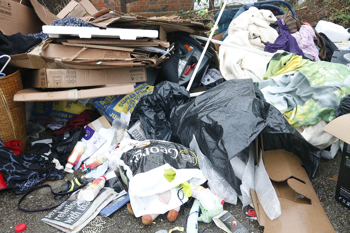 Council 'dissapointed' after rubbish dumped in car park